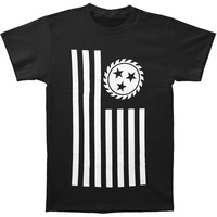 Whitechapel Men's  Simple Flag T-shirt Black Rockabilia