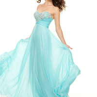 Elegant silk prom dress
