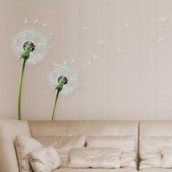 Hot Sale Romantic Dandelion Wall Decals Living Room Bedroom Removable PVC Wall Stickers Mural wall decor XT