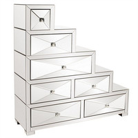 Howard Elliott Moselle Mirrored Stepped Drawers  - Howard Elliott 68052