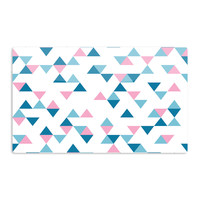 "Project M ""Triangles Pink"" Blush Blue Aluminum Magnet"