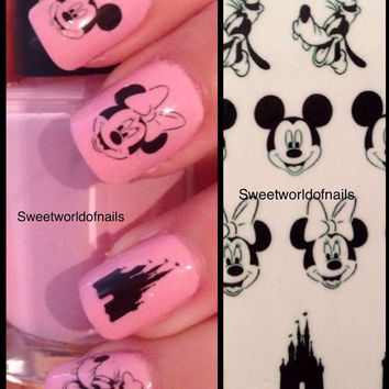 Disney Mickey and Minnie Mouse Nail Art Water Decals/Transfers
