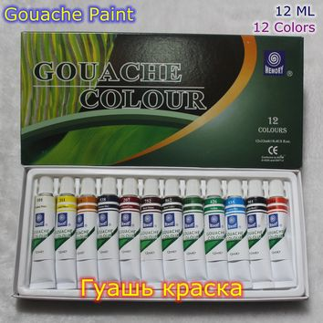 12 ml*12 Pieces Set Gouache Paint Set Gouache Paint Watercolor Paints Professional Paints For Artists