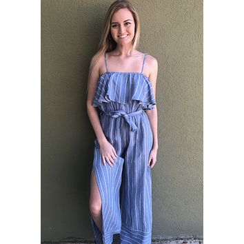Day Dreaming Jumpsuit- Blue