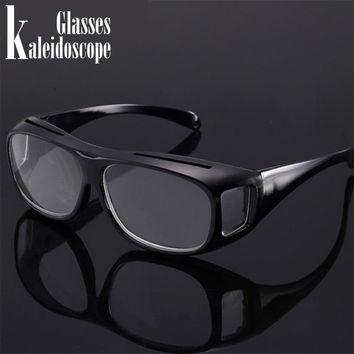Kaleidoscope Glasses Reading Glasses Magnifier Unisex Magnifying Presbyopia Glasses Big Vision Anti-fatigue Eyewear +250.+300