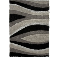 Orian Rugs Flume Black Taupe 7 ft. 10 in. x 10 ft. 10 in. Area Rug-242690 at The Home Depot