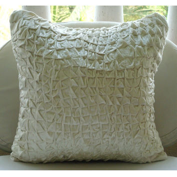 Snow Soft  Pillow Sham Covers  24x24 Inches by TheHomeCentric