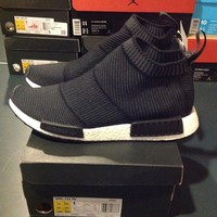 """New DS Adidas NMD CS1 PK """"Winter Wool"""" Black Prime Knit Size 11 S32184"""
