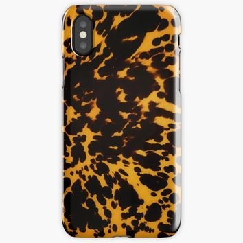 Polished Tortoise Shell Art Deco iPhone X Case