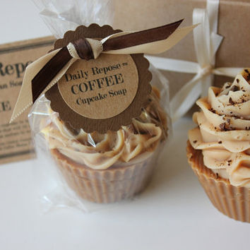 COFFEE CUPCAKE Handmade Soap Bar Natural Vegan Cold Process Soaps