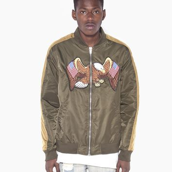 Flying American Eagle Bomber Jacket in Olive