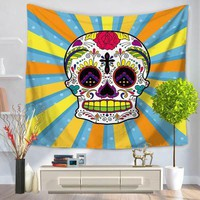 Cartoon skull Printed Wall Hanging Tapestries Indian Mandala Tapestry Home Decor Bohemian Throw Hippie Blanket