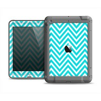 The Trendy Blue Sharp Chevron Pattern Apple iPad Mini LifeProof Fre Case Skin Set
