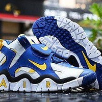 764 Nike Air Barrage Mid Classic Rams Colors AT7847-100 High Basketball Shoes Casual Sneaker