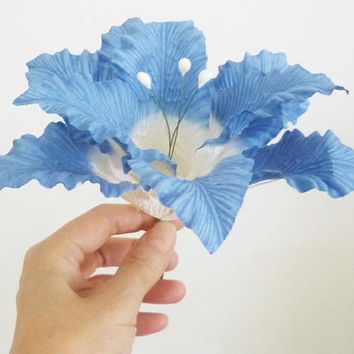 Lily flower paper 7 inch. /180 mm. Large Flower decorations ,Emblissment ,Craft ,D.I.Y.