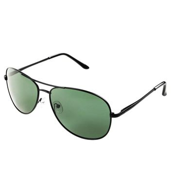 Pro Pilot Sunglasses – Fashionable Polarized Pilot Sunglasses with 400 UV Protections   Luxurious Bayonet Temples Design   Hefty Steel Alloy Frame and 2.4 Inches Anti-Scratch TAC Lenses   Grey   405.2