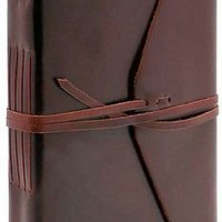 Bombay Brown Leather Journal with Tie ( 6
