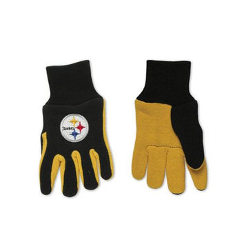 Pittsburgh Steelers Two Tone Youth Size Gloves