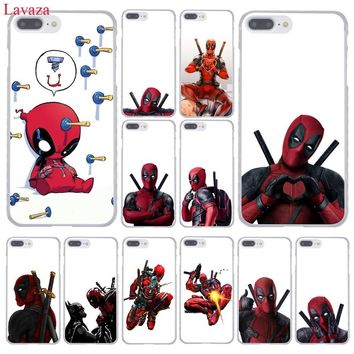 Lavaza 3D Super Cool Marvel Deadpool Phone Case for Apple iPhone XR XS Max X 8 7 6 6S Plus 5 5S SE 5C 4S 10 Cover 8Plus Cases