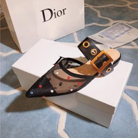 Dior Color wave point flat shoes