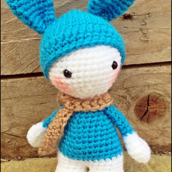 Blueberry BonBon - Handmade Crochet Doll