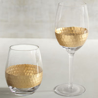 Flair Hammered Glass Stemware
