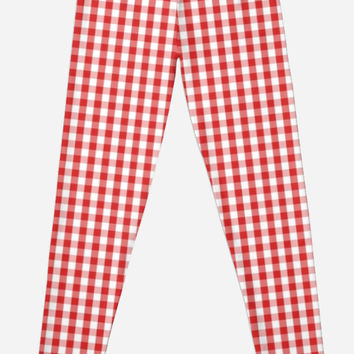 Elegant Red Gingham Pattern by shabzdesigns