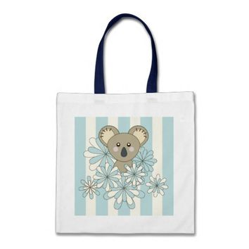 Cute Animal Tote Bags: Neutral Baby Shower and Girl Birthday Gift Idea: Kawaii Baby Koala