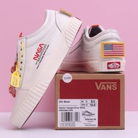 "NASA x Vans Space Voyager Old Skool""True White"" Men Shoes Original Sneakers Women Sneakers"