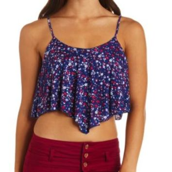 Tribal Print Swing Crop Top by Charlotte Russe