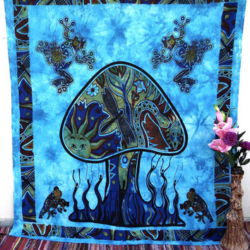 Psychedelic Mushroom Dance Tapestries,hippie tapestries,indian tapestries,dorm tapestry,bohemian ,wall art,psychedelic tapestry,dorm decor