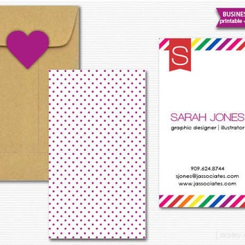Business Cards Printable Calling Cards Mommy Cards DIY Digital File PDF Stationery