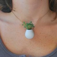 A Wearable Planter No 1 by colleenjordan on Etsy