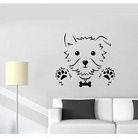 Wall Decal Puppy Dog Baby Animal Toy Pet Vinyl Sticker Unique Gift (ed649)