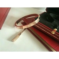 Cartier Love Bangle Bracelet in 18k Rose Gold size 16