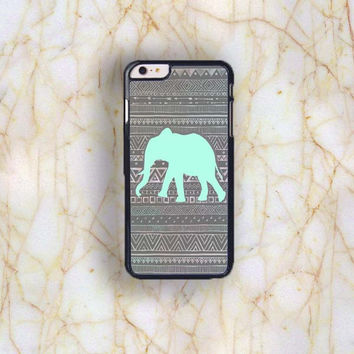 Dream colorful Dream colorful Green Elephant Aztec Generic Plastic Case Cover for Apple iPhone 6 Plu