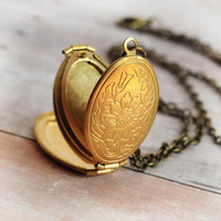 Gold Locket Necklace Jewelry Four Photo Folding Locket Necklace Jewelry Antique Locket Family