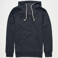 Volcom Pulli Mens Henley Hoodie Navy  In Sizes