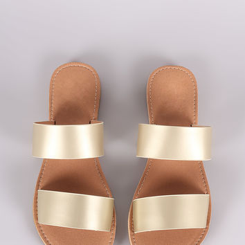 Qupid Double Band Slide Sandal