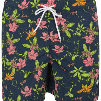 Bellfield Lotus Floral Print Slim Fit Swim Shorts
