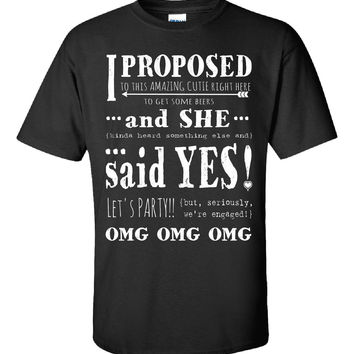 Lesbian Wedding Engagement Fun Cute Just Engaged Party Gift - Unisex Tshirt