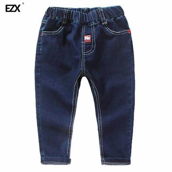 spring autumn New Style boys Girls Jeans Kids Clothing children Skinny Pants Elastic Waist Fashion Trousers For Baby Girl E38