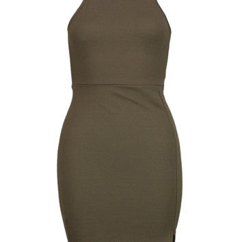 Petite Alicia Cutaway Shoulder Bodycon Dress | Boohoo