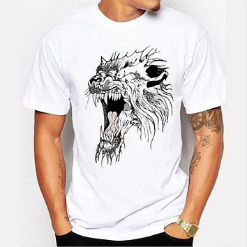 Men 3D animals t-shirt printed male tops hipster cool Top mens tee shirts