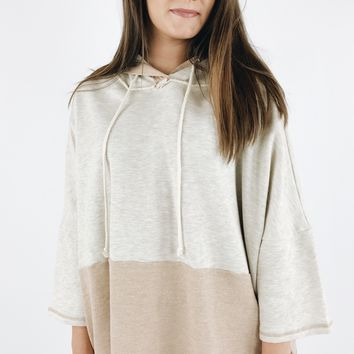 Keep To Myself Pullover - Oatmeal