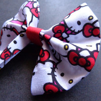 Hello Kitty SANRIO Hair Bow or bow tie by Stitch3d on Etsy