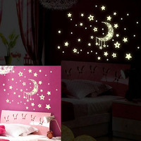 Decoration Stickers Noctilucent Cartoons Bedroom Wall Sticker [11498391183]