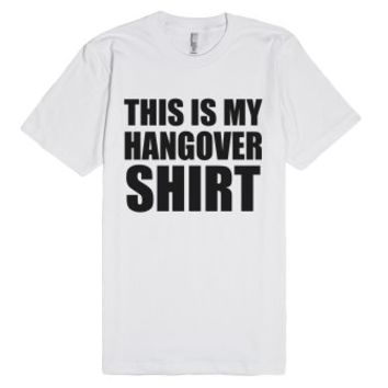 This Is My Hangover Shirt-Unisex White T-Shirt