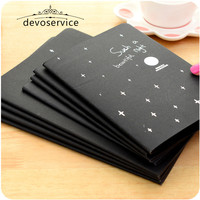 Notebook Diary Black Paper Notepad A4 A5 A6 Sketch Graffiti Notebook For Drawing Painting Office School Stationery Gifts