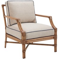 Redondo Accent Chair, Sand/Navy - Barclay Butera - Brands | One Kings Lane